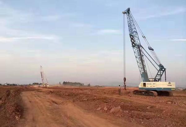 安徽合肥公共工程强夯施工